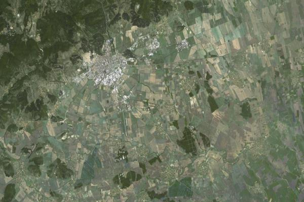Satelitna Snimka Na Stara Zagora