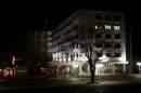 Нощна снимка от сградата на Общината